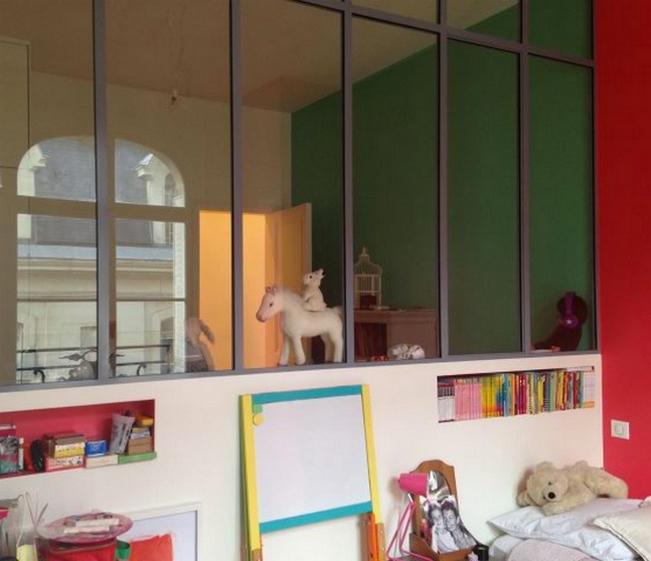 Serrurerie - Verrière d'intérieur style atelier 1