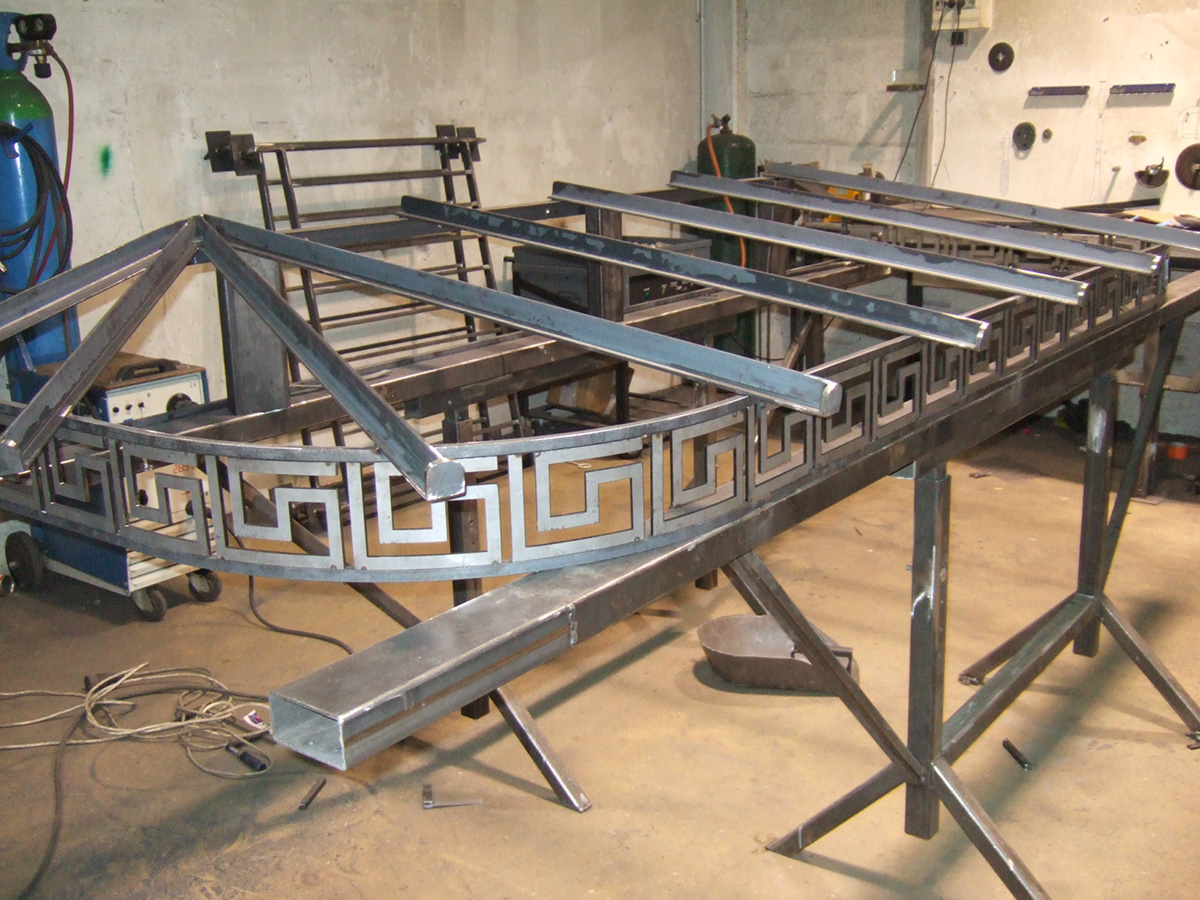 Metallerie - Fabrication d'une marquise 1
