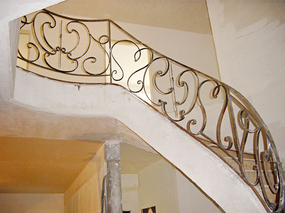 Metallerie - Garde Corps et rampe sur escalier 2