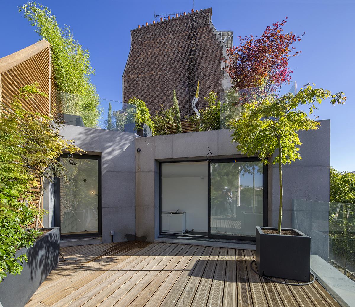 Menuiseries Exterieures Aluminium - Construction d'un immeuble comprenant deux maisons de ville 1