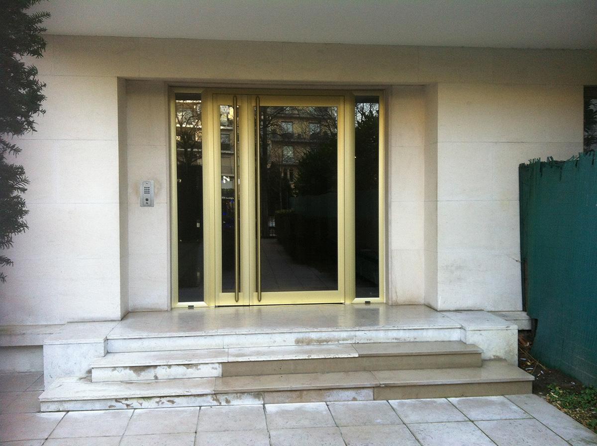 Motorisation et Contrôle d'accès - Portes de hall, contrôle d'acces - PORTE DE HALL SAUSSAYE 2